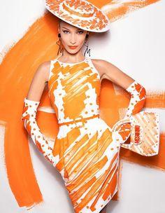 Bella Hadid by Steven Meisel in Moschino's SS 2019 Campaign - Un Ete 2019 Chic et Artistique pour la Femme Moschino Style Couture, Couture Mode, Couture Fashion, Runway Fashion, Fashion Models, Fashion Brands, Fashion Women, Fashion Editor, Steven Meisel