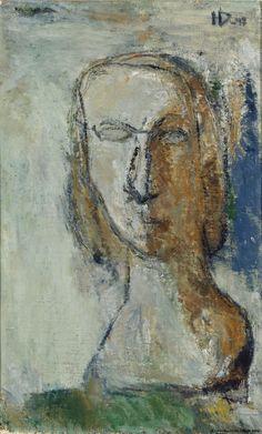 Helge Dahlman (Finland ??-1979), Face, oil/canvas, 1947. Finnish National Gallery, Helsinki.