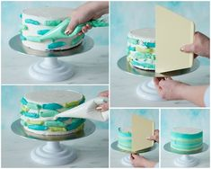 Einfache Ostertorte Deko selber machen: 7 Ideen mit Anleitung und hilfreiche Tip… Make simple Easter cake decoration yourself: 7 ideas with instructions and helpful tips Ocean Birthday Cakes, Ocean Cakes, Homemade Birthday Cakes, First Birthday Cakes, Easter Cake Easy, Bolo Floral, Ombre Cake, Best Cake Recipes, Birthday Cake Decorating
