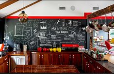Love the Danish modern feel, and I am DYING over the chalkboard wall. All the doodles look so tough!