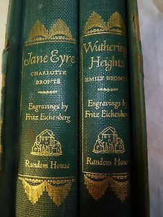Jane Eyre by Charlotte Bronte (1816-1855) - Wuthering Heights by Emily Bronte (1818-1848) #charlottebronte #emilybronte