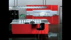 Beautiful Red Modern Kitchen Design and Decor