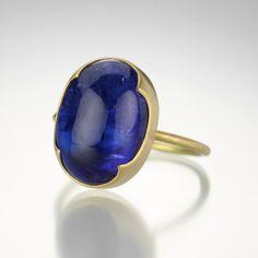 Oval Cabochon Tanzanite Ring by Gabriella Kiss @QUADRUM