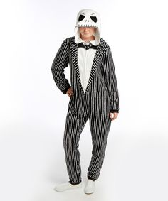 Look at this #zulilyfind! The Nightmare Before Christmas Jack Hooded Jumpsuit - Men's by Briefly Stated #zulilyfinds