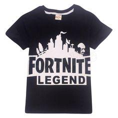954bf5c1 Fortnite Legend Gamer Short Sleeve Cotton Kids TShirt #fortnite  #fortnitebattleroyale #live Summer Blouses