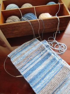 Sky Scarf 2013; knit a row every day to record the weather for a year. Ah this is cute! But mine would be crocheted of course lol.