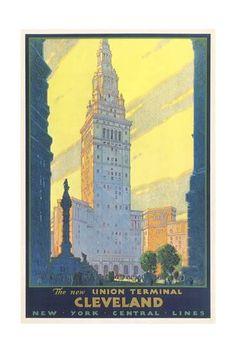 Cleveland Union Terminal Art Print at Art.com