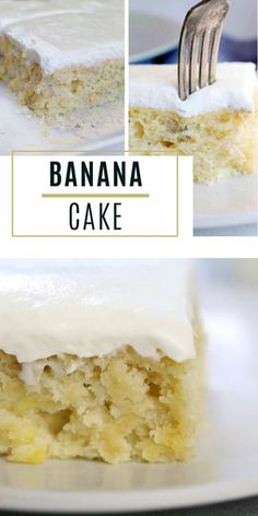 If you are looking for the BEST banana cake that has PURE banana flavor! I leave out one common ingredient and allows the banana flavor to stand out. Banana Recipes, Easy Cake Recipes, Easy Desserts, Dessert Recipes, Recipe For Banana Cake, Whipped Cream Cakes, Whipped Cream Cheese Frosting, Banana Frosting, Banana Cheesecake