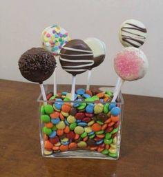 Pirulito de oreo e Cupcake de oreo