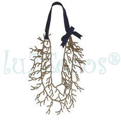 Collar largo coralines.  #collarlargocoral #corales #realizadoamano