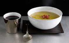 Split-Pea Soup with Fried Country Ham