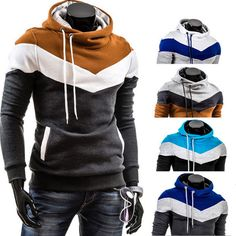 Men's Slim Pullover Hoodie Warm Fleeces Hooded Sweatshirt Coat Sweater Outwear #UnbrandedGeneric #Hoodie