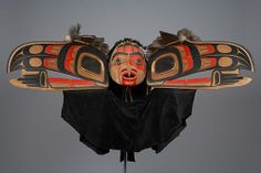 Raven Transformation Mask - Jim Hart Collection Online | Museum of Anthropology at UBC