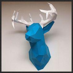 Deer Head Wall Hanging Free Paper Craft Download