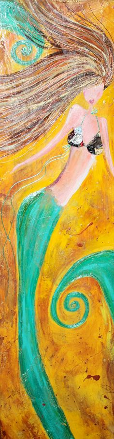 Merlot Mermaid by artbylorilynn on Etsy