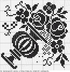 pixel can also be used as a crochet psttern Cross Stitch Love, Cross Stitch Samplers, Cross Stitch Flowers, Cross Stitch Charts, Cross Stitch Designs, Cross Stitch Patterns, Quilt Stitching, Cross Stitching, Cross Stitch Embroidery