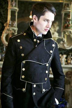 Military style men's coat. The Goblin Ball: Ember Rule, Melbourne, Australia. 14th June 2014 www.thegoblinball.com