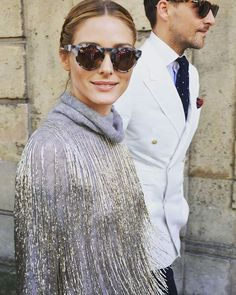 Olivia Palermo - grey with sparkles