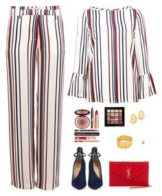 Sin título #4953 by mdmsb on Polyvore featuring polyvore fashion style Baum und Pferdgarten Christian Louboutin Yves Saint Laurent Chanel NYX Charlotte Tilbury clothing