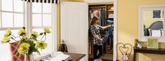 Even a small closet benefits from a custom storage solution. Here are a few of our favorite design ideas for those extra-small reach-in spaces.