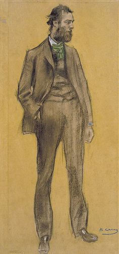 """Ramón Casas i Carbó (1866-1932). """"Ramon Pichot Gironès""""."""