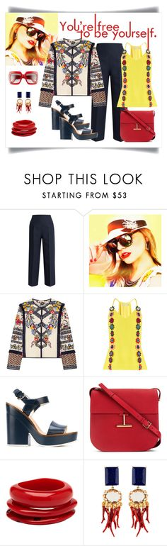 """Tory Burch Amber Embroidered Canvas Jacket Look"" by romaboots-1 ❤ liked on Polyvore featuring Fendi, Tory Burch, Mary Katrantzou, Jil Sander Navy, Tom Ford, Mimco and Gucci"