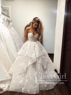 Sweetheart Wedding Dress, Princess Wedding Dresses, Dream Wedding Dresses, Bridal Dresses, Princess Bridal, Wedding Sundress, Princess Fairytale, Wedding Dresses With Flowers, Dramatic Wedding Dresses