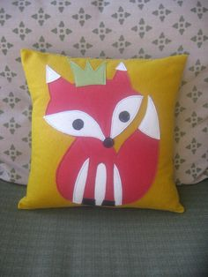 King Fox  Pillow Cover