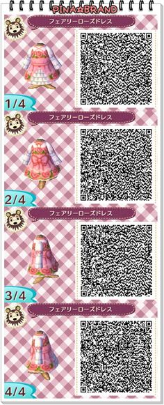 by: ferodoko • fairy • rose • dress • ruffles • pink • spring // Animal Crossing: New Leaf QR codes