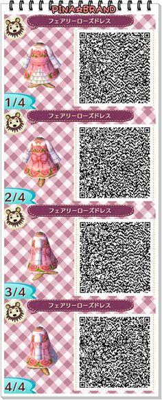 by: ferodoko • fairy • rose • dress • ruffles • pink • spring // Animal Crossing: New Leaf QR codes
