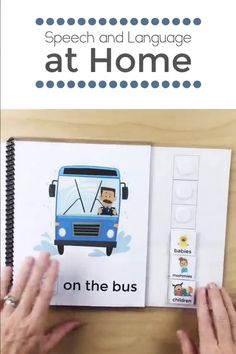 Speech Therapy Activity for Toddlers, Early Intervention, PreK, The Wheels on the Bus Book. Aba Therapy Activities, Speech Therapy Autism, Preschool Speech Therapy, Kindergarten Learning, Toddler Learning Activities, Preschool Learning Activities, Language Activities, Speech Delay, Play Therapy