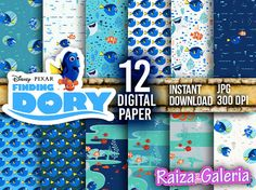 AWESOME Finding DORY Digital Paper. Instant by RaizaysuGaleria
