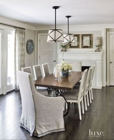 Half-strength Benjamin Moore Revere Pewter.  Beth Gularson  via Luxe Magazine.  Helen Norman Photography.
