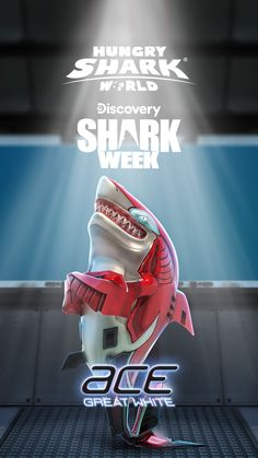 🏎 Ace - ready to deploy. Suit up for in Hungry Shark World from July Discovery Shark Week, Waves Icon, Best Gaming Wallpapers, App Hack, Polymer Clay Sculptures, Megalodon, Free Gems, Hack Online, Running Man