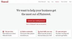 #Pinterest for Business Launched
