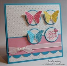 Butterfly birthday card design