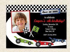 Race Car Birthday Invitations by LollipopPrints on Etsy, $10.00