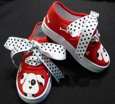 hand-painted Dalmatian sneakers. So cute.