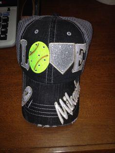 8fc6e3973b4 LOVE softball or baseball Hat