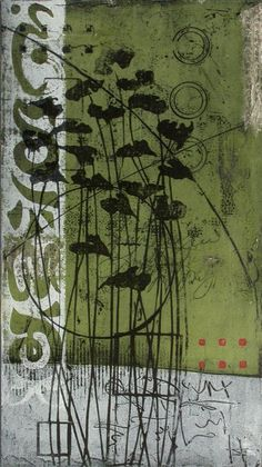Fugitive Mirage Anne Moore I print in layers first developing texture then embellishing the surface to find some focal point and create balance For me printmaking is. Art Du Collage, Mixed Media Collage, Gelli Arts, Collagraph, Gelli Printing, Encaustic Art, Medium Art, Painting & Drawing, Abstract Art