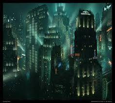 art deco cityscape