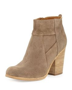Celeste Suede Ankle Boot, Flint/Natural by Coclico at Neiman Marcus.