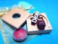 【玩木銀家】B款B-2紫檀木(五分印、杉木盒)-囍字印章 結婚禮物 婚禮小物 證書 喜喜印章 - 玩木銀家   Pinkoi