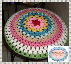 2 forro de banco tejido a crochet