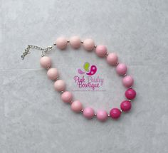 A personal favorite from my Etsy shop https://www.etsy.com/listing/247608372/bubble-gum-necklace-baby-girl-chunky