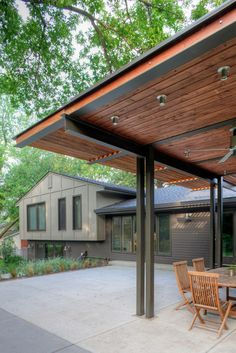 Cool Pergola in Nebraska | Contemporary Patio by Steven Ginn Architects LLC
