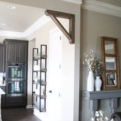 This gorgeous handcrafted wooden corbel is the perfect piece to add to any opening/corner of your home. LISTING: Price is for 1 Corbell DIMENSIONS: The corbel in the picture is 14 X 14 X 3. Please select your measurements before purchasing. CHOOSING YOUR FINISH AND COLOR: When
