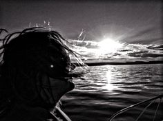 Sun setting in the Oslofjord
