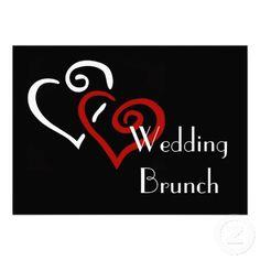 Entwined Hearts Wedding Brunch Invitation
