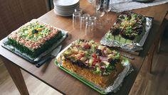 Tried making 'smörgåstårta' (sandwich cake) for my girlfriends family for midsummer's eve.